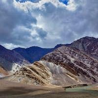 Himalayan landscape in Himalayas mountains