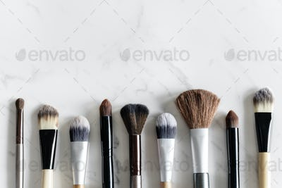 Aerial view of various brushes