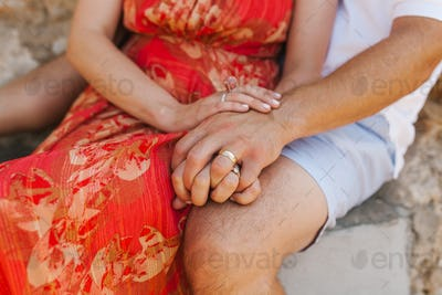 Close-up Of Couple's Hands