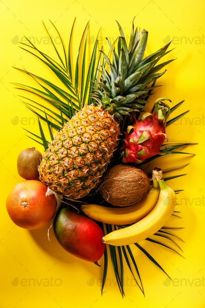Tropical exotic fruits assorted