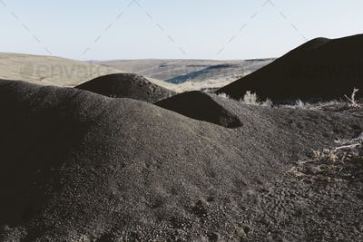 Gravel pile used for road construction and maintenance