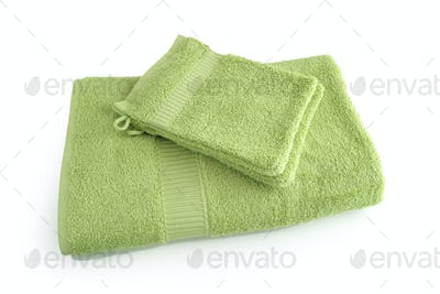 Green towel bale
