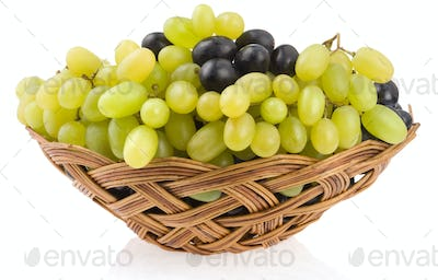 fresh grape fruits isolated on white