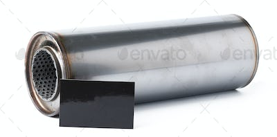 Exhaust system of the car on a white background