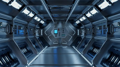 Science background fiction interior.