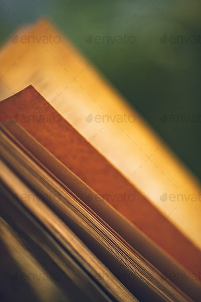 Grunge Style Photo of a Book