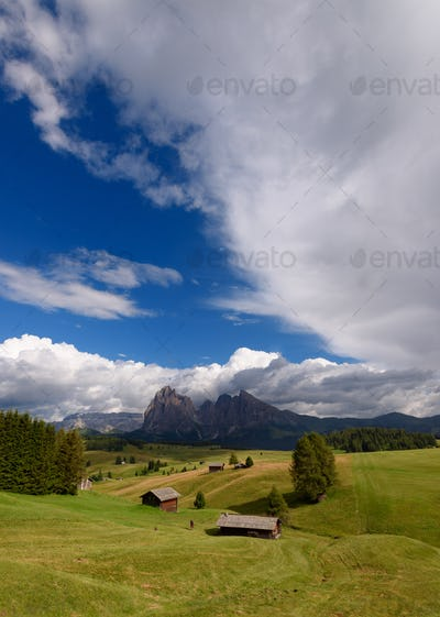 Summer in the Dolomites mountains