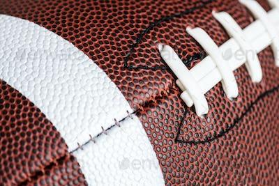 Macro shot of American football ball background