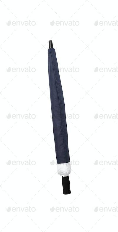 Folded umbrella isolated on white