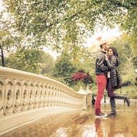 Lovely couple in Central park, New york