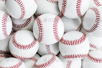 Closeup of baseballs textured background