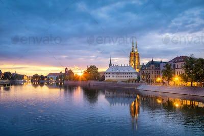 Cathedral Island (Ostrow Tumski) in Wroclaw, Poland