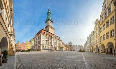 Jelenia Gora, Poland. View of Market and Town Hall