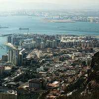 Gibraltar view from a high point