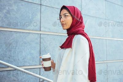 Beautiful muslim girl wearing hijab