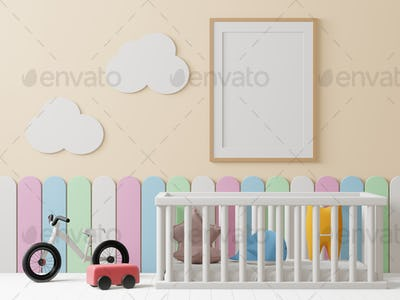 3D illustration Interior of the childroom,