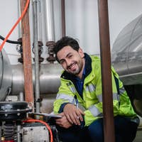 professional technician engineer working to control electrical power and safety service