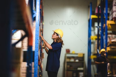worker person working in warehouse, logistic transportation shipping industry storage
