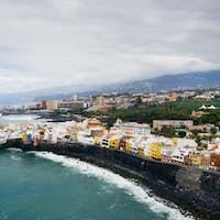 View of Punta Brava small town near Puerto de la Cruz city on Tenerife island, Canary islands