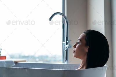 Woman wash