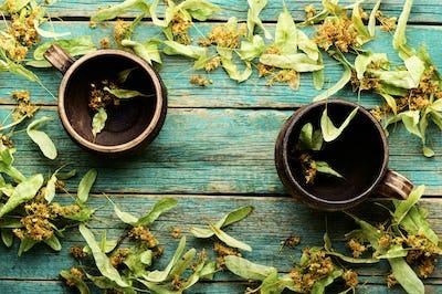 Fragrant linden tea