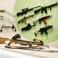 A lot of different weapons for shooting in the dash.Air guns for shooting training