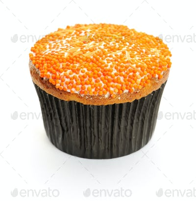 Cupcake with orange icing
