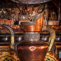 Water vessel in Spituk Gompa