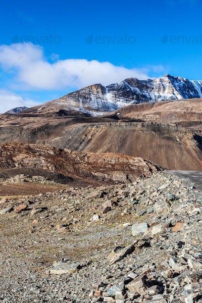 Himalayan landscape in Himalayas along Manali-Leh road