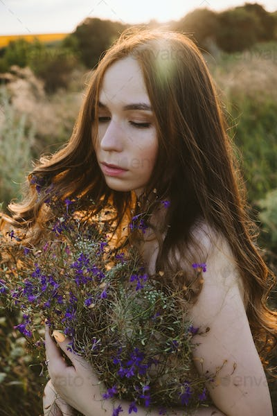 National Relaxation Day, relaxation practices, mental health, slow living concept. Young girl with