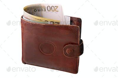 Monetary denominations in a purse