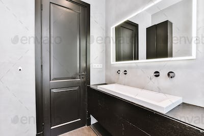 Modern bathroom with window at home