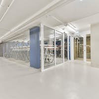 Bicycle room in apartment building