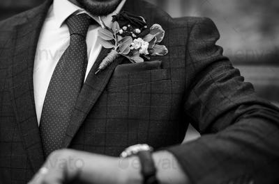 Groom waiting for his late bride
