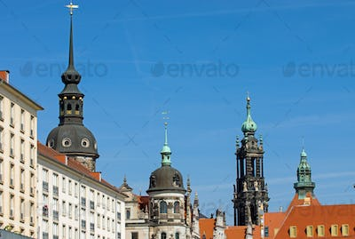 Historic skyline of Dresden