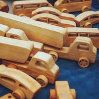 Creative eco wooden toys for baby und kids made of organic wood. Childrens Educational Eco-friendly