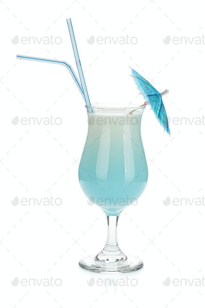Blue coconut cream cocktail
