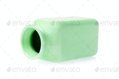 Empty Green Porcelain Container