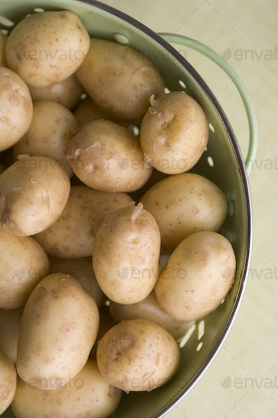 New Potatoes In Colander