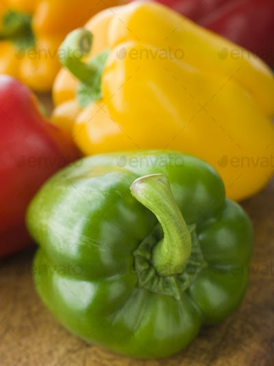 Different Coloured Peppers