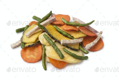 Fried vegetable chips