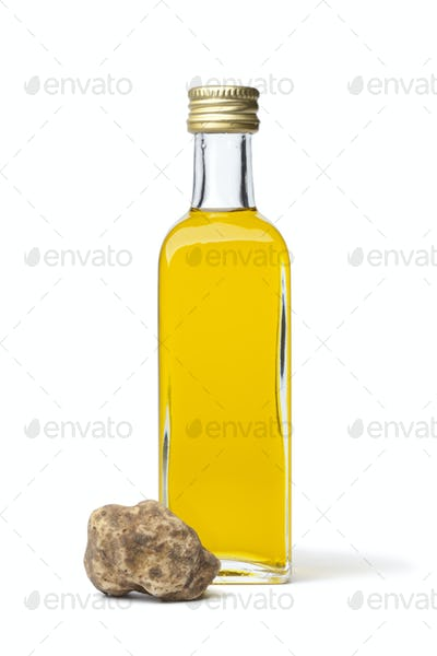 Bottle of olive oil with white truffle