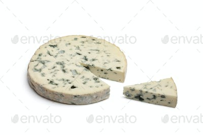 Slice of Fourme d'Ambert cheese