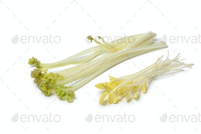 Bleached sea kale and sprouts