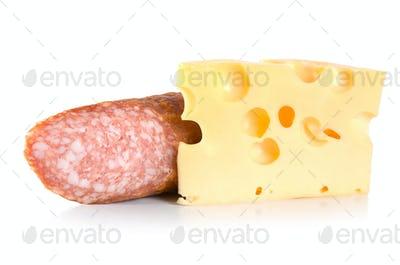 Dutch cheese and sausage