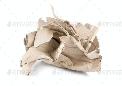 Crumpled cardboard