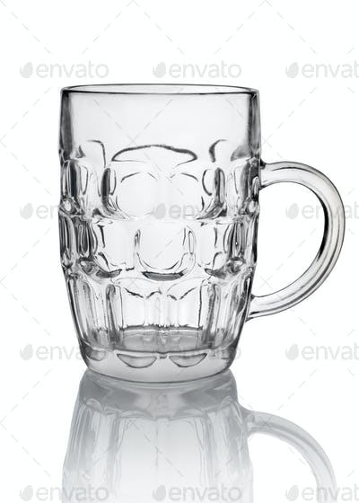 Big beer glass isolated