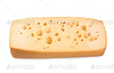 Dutch cheese isolated