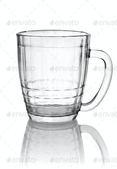 Empty big beer glass