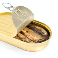 Sprat fish canned